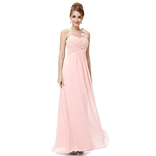 Ever Pretty Flower Ruffles One Shoulder Bridesmaid Dresses for Women 09768