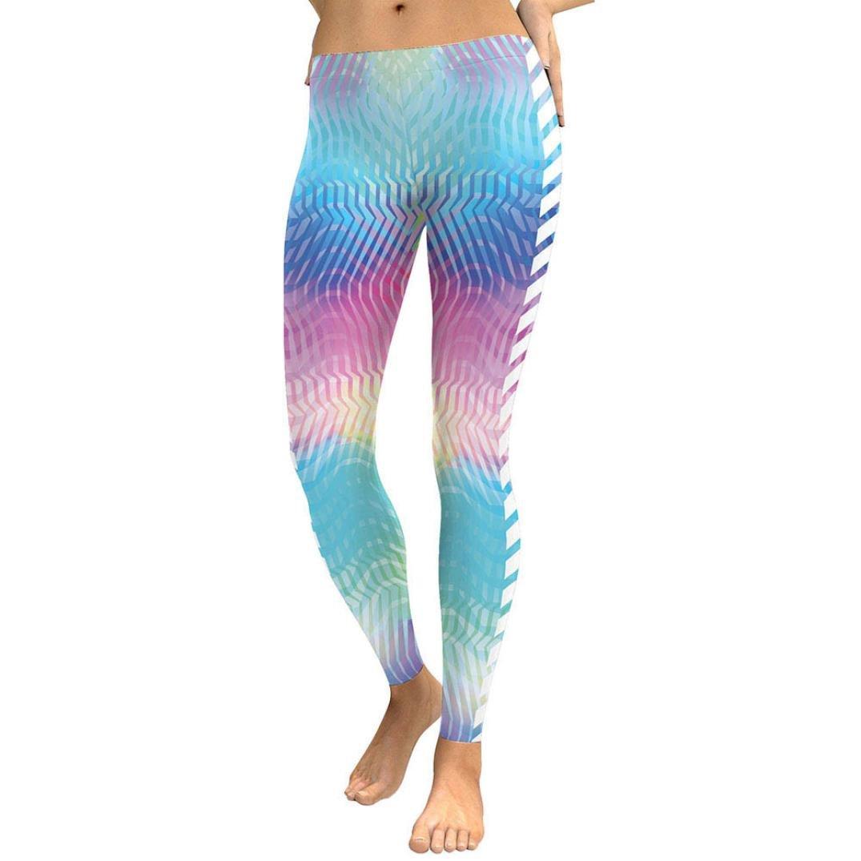 CSSD Women Gradient Color Yoga Pants, Digital Print Sports Gym Running Athletic Trouser Fitness Leggings (S, Multicolor)