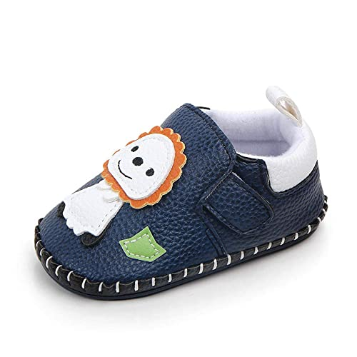 f5121181113cf Kuner Baby Girls Boys Pu Leather Cartoon Handmade Soft Bottom Non-Slip  First Walkers Shoes