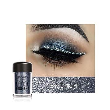 Amazon.com: Faymio 18 colores sombra de ojos con purpurina ...