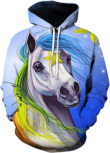 Dog in A Blue Bow and Glasses Mens Vintage 3D Graphic Hoodies Pullover Hooded Top Winter Sweatshirt