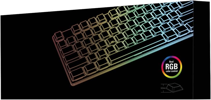 Sharkoon PureWriter TKL RGB, Kailh Blau, Anti-Ghosting (N-Key-Rollover)