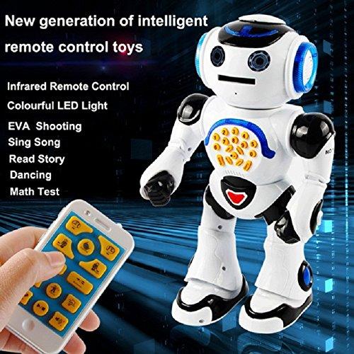 Amazon Com Top Race Remote Control Walking Talking Toy Robot