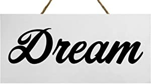 JennyGems  Dream Wood Script Sign   Scripted Word Art   Statement Piece for Interior Decorating   Home Decor and Design   Photo Shoot Prop   Home Trends   Inspirational Wood Signs   Made in USA
