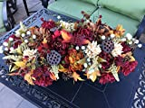 Mediterranean Floral Design, Tuscan Floral Design, Tuscan Floral Arrangement, XXL Centerpiece, Farmhouse Centerpiece, Lotus Pod Floral Arrangement