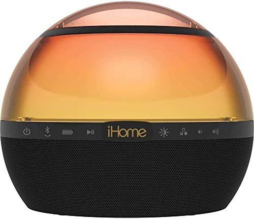 iHome iBT175 Color Changing Bluetooth Rechargeable Speaker with 360 Sound and LED Party Lighting