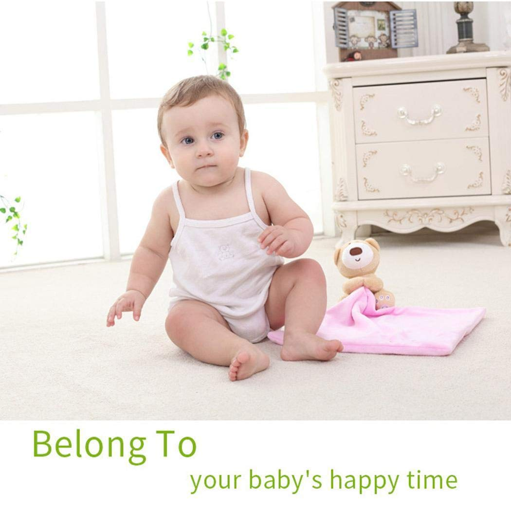 Fantiff Manta de Seguridad Infantil de Felpa con Oso Adorable Mantas