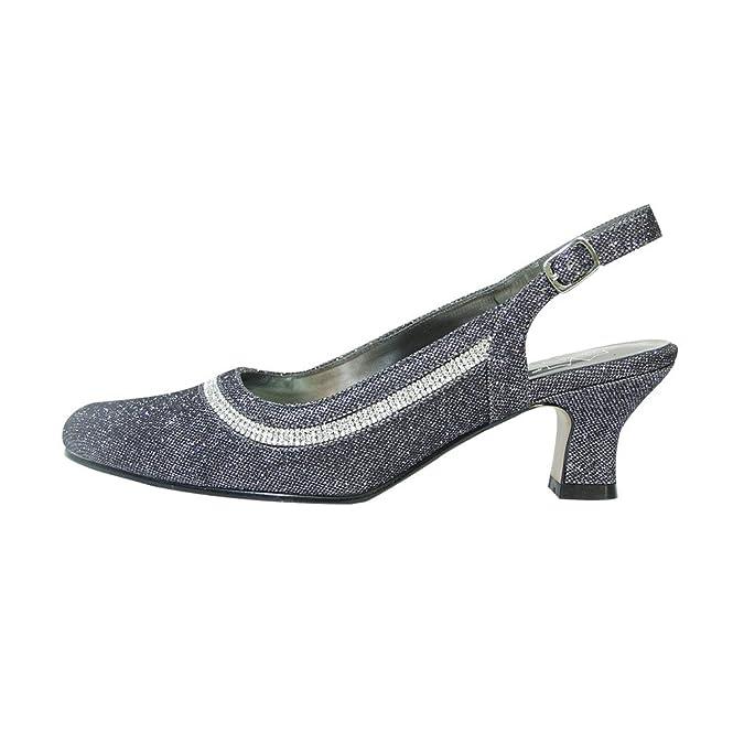 94e7c0b9224e16 Amazon.com | Floral Priya Women Wide Width Slingback Pump Nice for Dress or  Elegant Affairs | Pumps