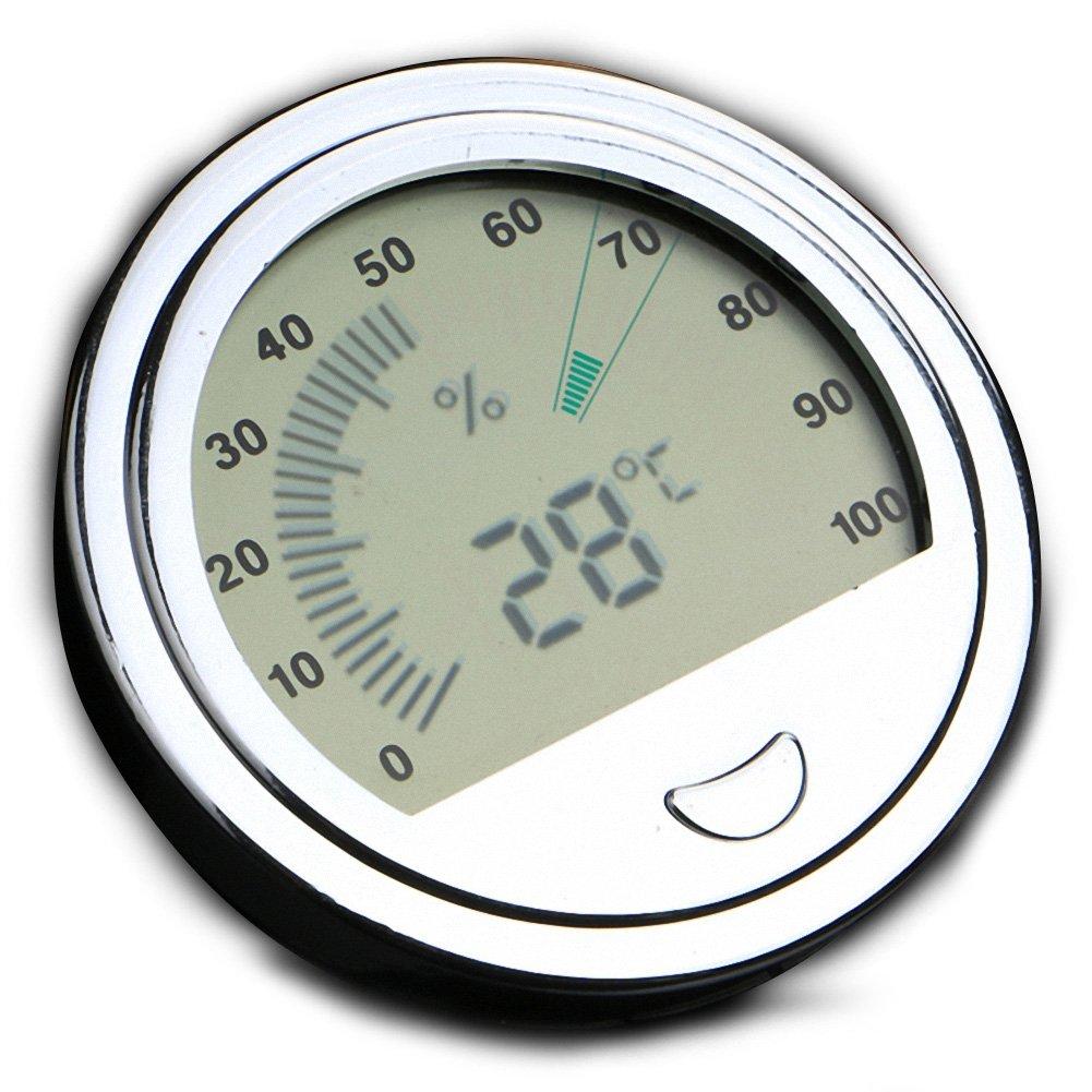 OMEM Reptile High Precision Digital Thermometer Hygrometer Data Measuring (Silver)
