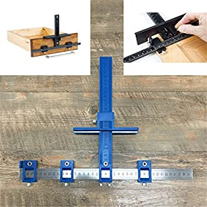 Aescendos Drill Guide Sleeve Cabinet Hardware Jig Drawer Pull Jig Wood Drilling Dowelling Hole Saw Master System