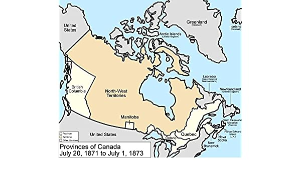 Map Of Canada In 1873.Amazon Com Home Comforts Framed Art Your Wall Map Canada Provinces