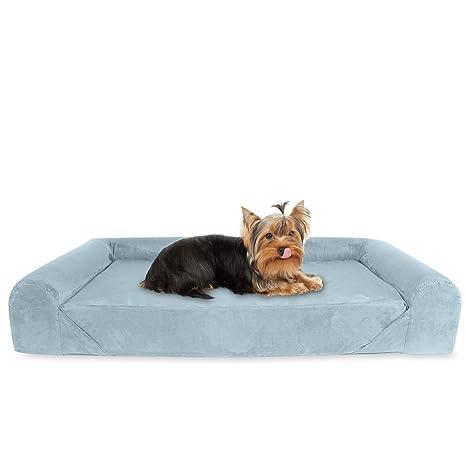 KOPEKS Sofa Cama Lounge para Perros y Gatos Mascotas de Tamaño Pequeño a Mediano con Memoria