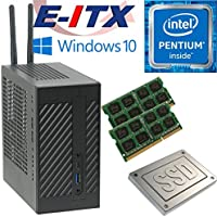 Asrock DeskMini 110 Intel Pentium G4600 (Kaby Lake) Mini-STX System , 32GB Dual Channel DDR4, 120GB SSD, WiFi, Bluetooth, Window 10 Pro Installed & Configured by E-ITX