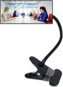 """Clip On Security Mirror, Computer Rearview HD Mirror, Convex Cubicle Mirror for Personal Safety and Security Desk Rear View Monitors or Anywhere (6.69"""" x 2.95"""" Rectangle)"""