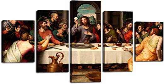 5 Panel The Last Supper Modern Décor Wall Art Canvas HD Print