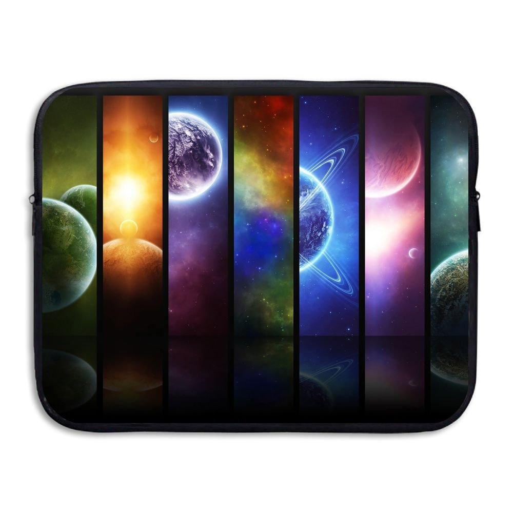 Fonsisi Solar System Planets Art Laptop Storage Bag - Portable Waterproof Laptop Case Briefcase Sleeve Bags Cover