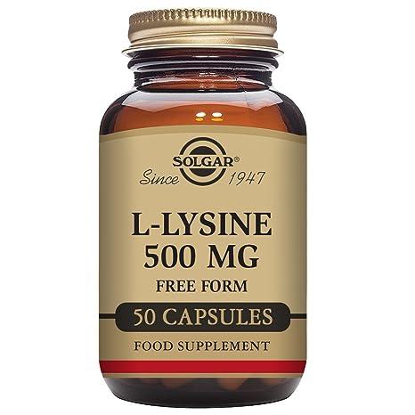 Solgar L-Lisina Aminoácido - 50 Cápsulas