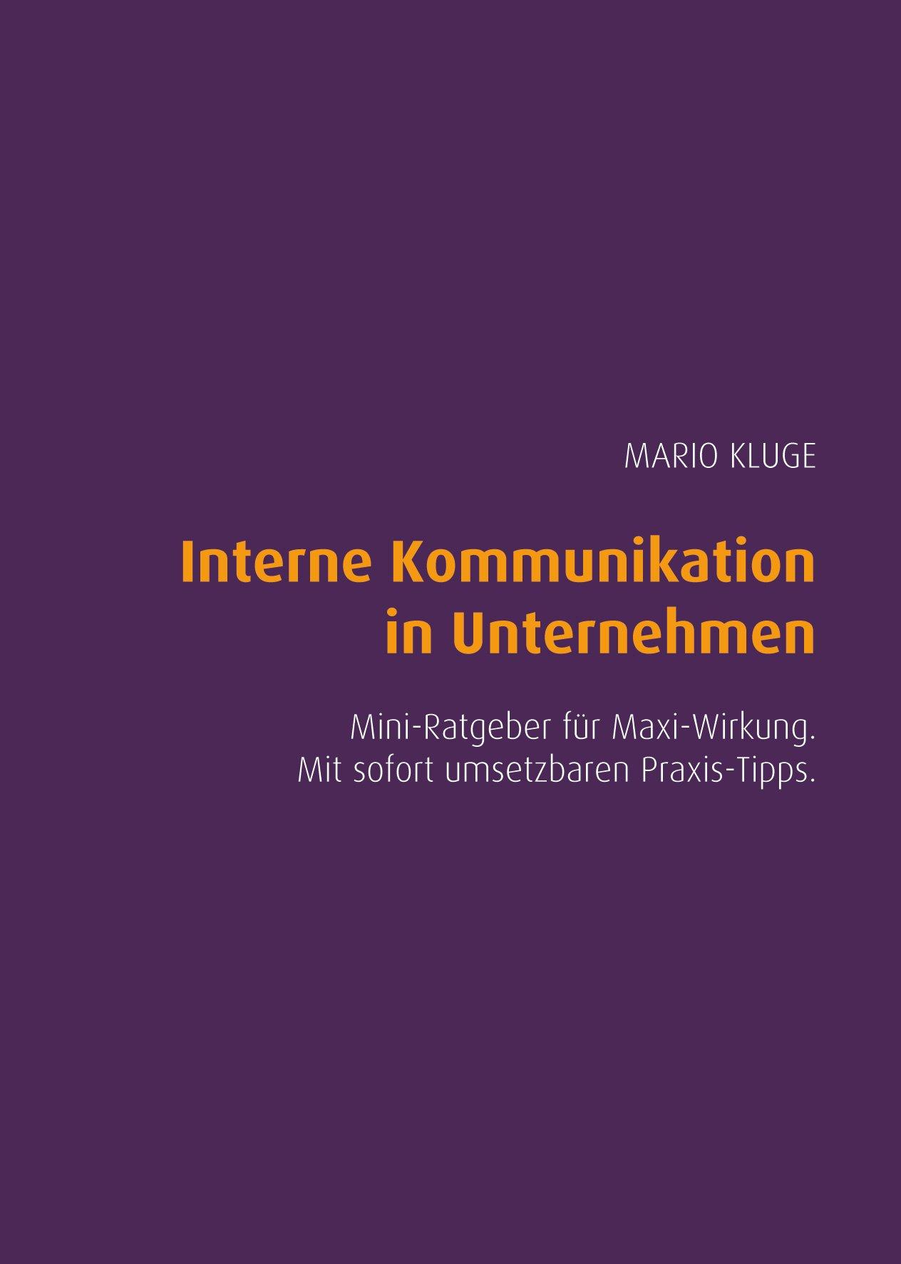 Interne Kommunikation in Unternehmen. Mini-Ratgeber für Maxi-Wirkung. Mit sofort umsetzbaren Praxis-Tipps.
