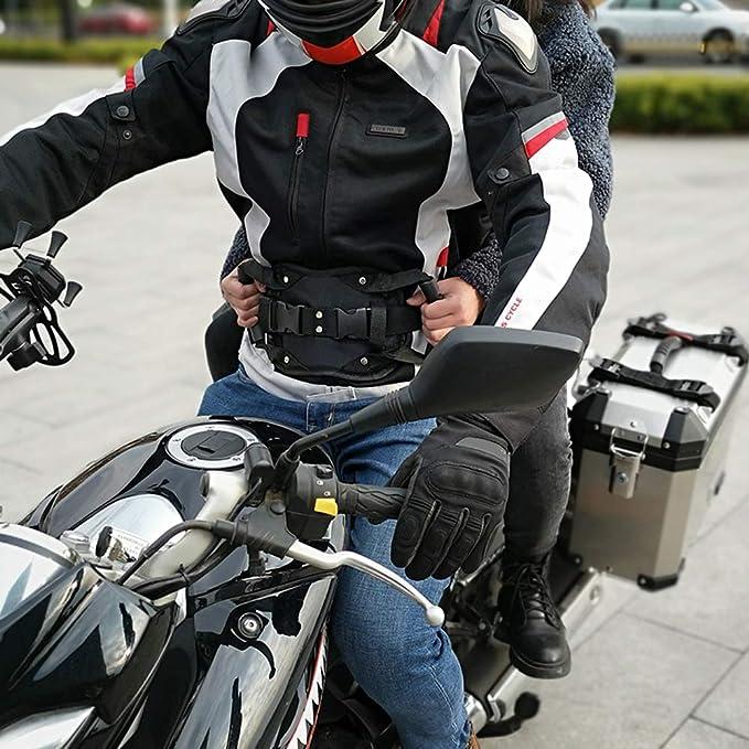 Kkmoon Sicherheitsgurt Für Den Rücksitz Des Motorrads Haltegriff Für Den Beifahrergriff Mit Rutschfestem Gurt Sicherheitsarmlehne Für Den Rücksitz Des Motorrads Auto