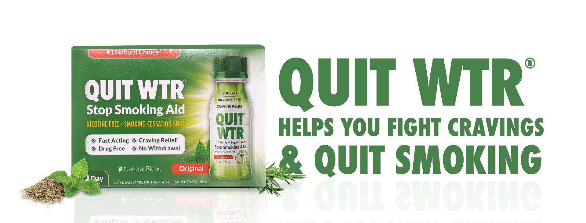 Quit Smoking Aid/Quit WTR Natural Smoking Cessation Supplement / 12 Day Detox to Help Curb Cravings & Overcome The urge to Smoke 24/7 (Original, 12 Day Detox)