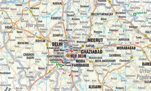 India norte, mapa de carreteras plastificado. Escala 1:1.000.000. Borch. Borch Map: Amazon.es: VV.AA.: Libros