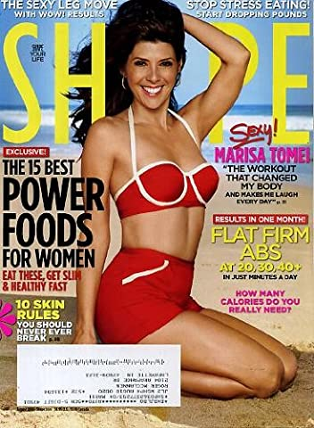 Shape August 2010 Marisa Tomei on Cover (The Workout That Changed My Body), Flat Firm Abs, 15 Best Power Foods for Women, The Sexy Leg Move, Stop Stress Eating - Start Dropping Pounds, How Many Calories Do You Really (How Many Calories Do)