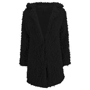 ESHOO Femmes Chaud-vêtement Vest en Fausse Fourrure d'hiver Manteau
