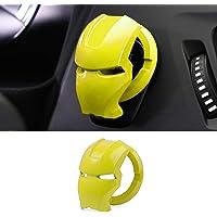 Cubierta de botón de arranque del motor de coche, aleación de aluminio, universal, cubierta para decoración del…