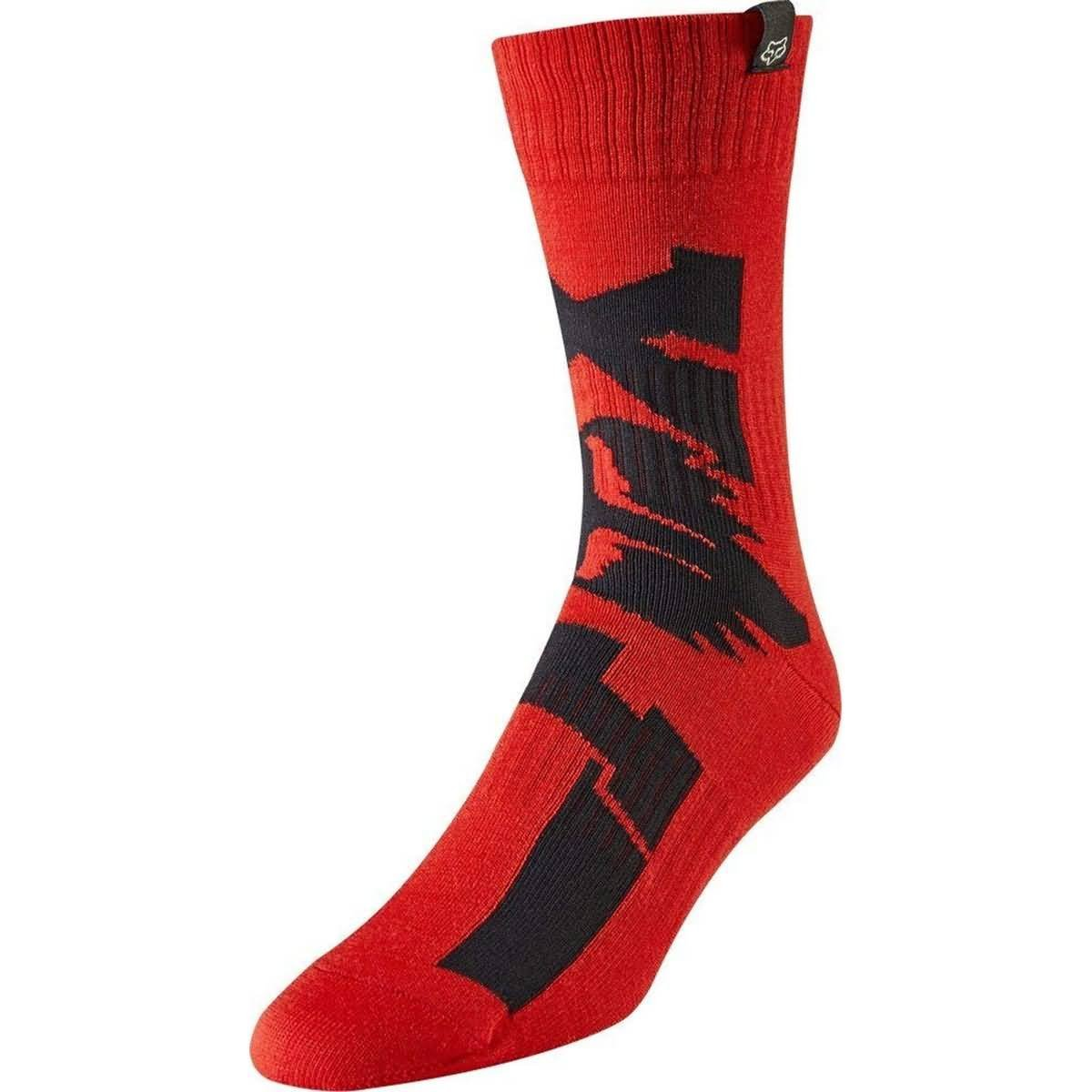 Fox Racing 2019 Youth MX Socks - Cota (LARGE) (RED)
