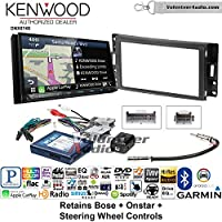 Volunteer Audio Kenwood DNX874S Double Din Radio Install Kit with GPS Navigation Apple CarPlay Android Auto Fits 2004-2006 Pontiac GTO With Bose, Onstar, SWC
