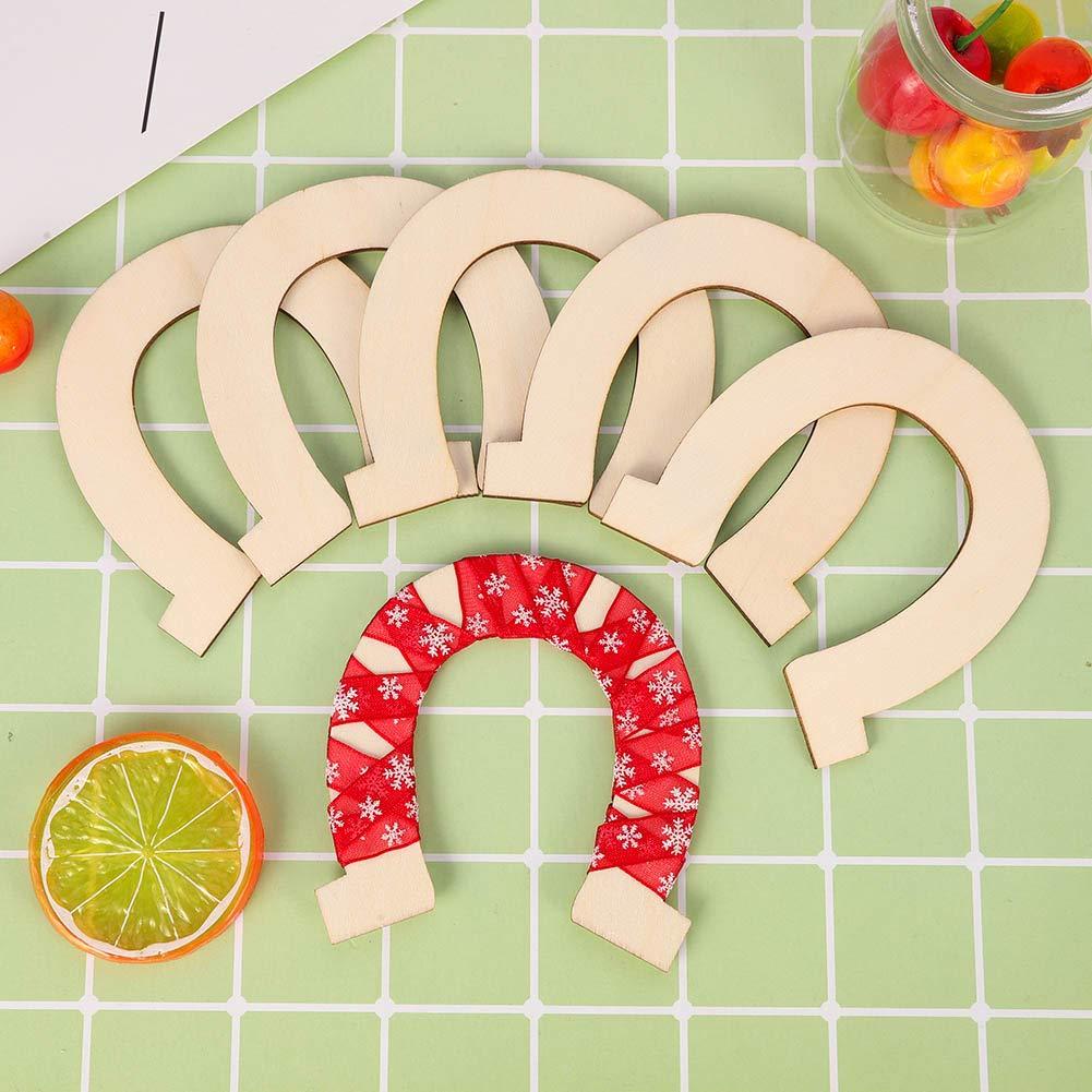 matrimonio e compleanno 68pcs legno dischi fette a ferro di cavallo forma incompiuta in legno ritagli artigianali decorazione fai da te per il partito