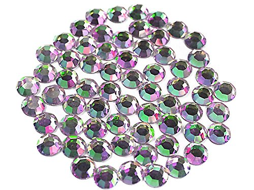 Crystal Vitrail Light, Preciosa Genuine Czech Crystals Rhinestone Flatbacks, ss34 (7mm) ~ 72pcs ()