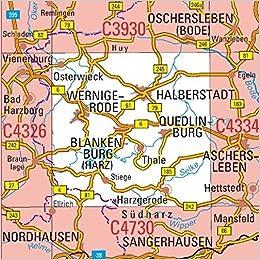 Karte Sachsen Anhalt.C4330 Halberstadt Topographische Karte 1 100 000 Dtk 100 Sachsen