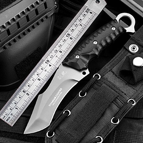 BERETS Special forces tactical knife outdoor hunting camping Army Knives military tactical knife Fixed Blade by HX OUTDOORS (Image #5)