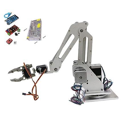 Gazechimp Kit de Brazo de Robot DIY con Tablero de Control de ...