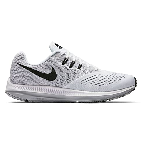 Nike Mens Zoom Winflo 4 Running Shoes White Black Wolf Grey 7. 5 D(M) US   Buy Online at Low Prices in India - Amazon.in 462adfd03