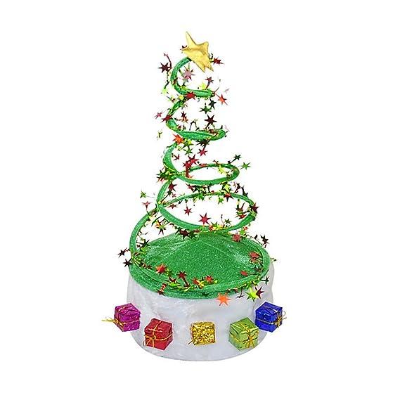 Healifty Árbol de Navidad Decorado con Espiral de Primavera y Sombrero de  Santa para Adultos y niños  Amazon.es  Ropa y accesorios 8f781c38ad8
