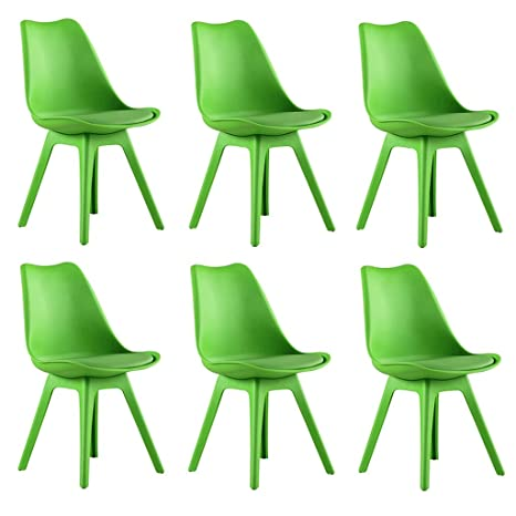 Swell Amazon Com Zcxbhd Set Of 6 Tulip Dining Chairs Modern Short Links Chair Design For Home Short Linksinfo