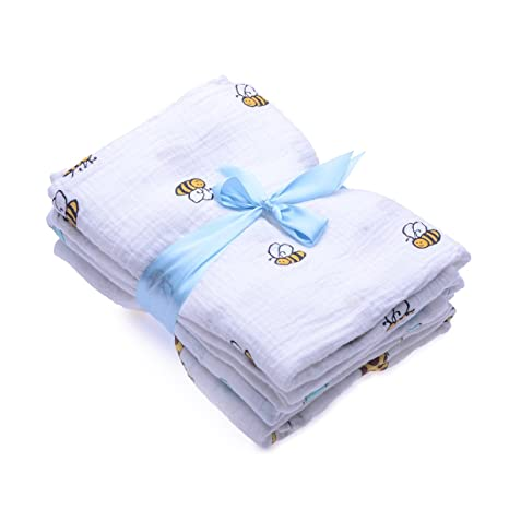 120 x 120 cm paquete de 2 mantas de muselina grandes para reci/én nacidos pa/ños de muselina suave Cuadrados de muselina y mantas Swaddle