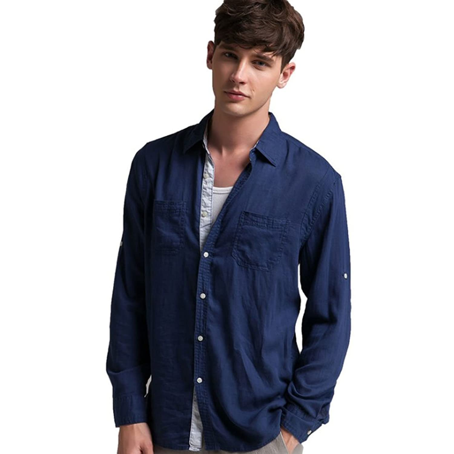Men's Long Sleeve Shirts Spring Autumn Casual Tops Outwear