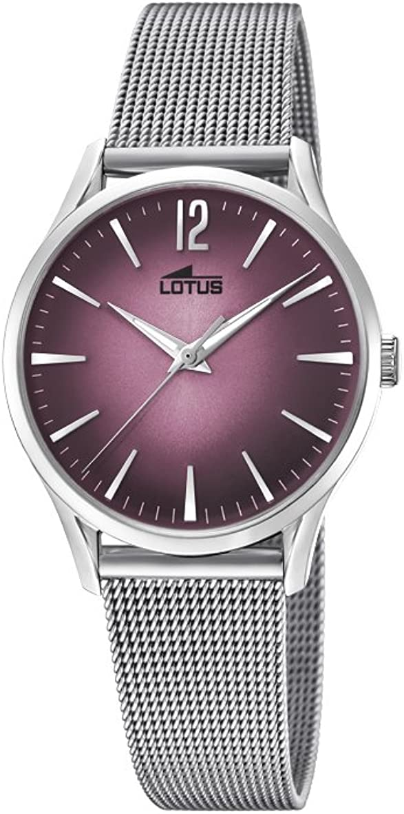Lotus Reloj Análogo clásico para Mujer de Cuarzo con Correa en Acero Inoxidable 18408/2