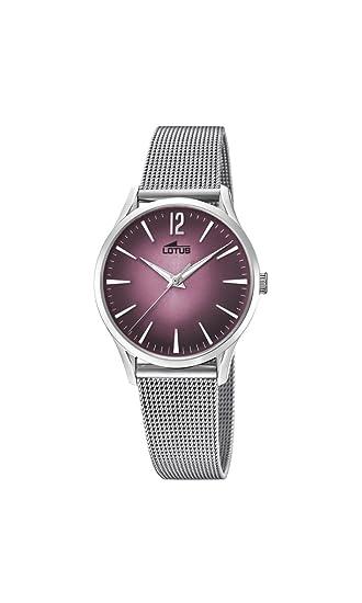 c3e109bd8323 Lotus Reloj Análogo clásico para Mujer de Cuarzo con Correa en Acero  Inoxidable 18408 2  Amazon.es  Relojes
