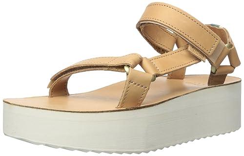 af381b29df79 Teva Women s Flatform Universal Crafted Sandal Tan 11 B(M) US ...