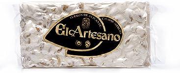 El Artesano RISLAN Crunchy Almond Alicante Turron Supreme Quality (Turron de Alicante Duro) 8.8