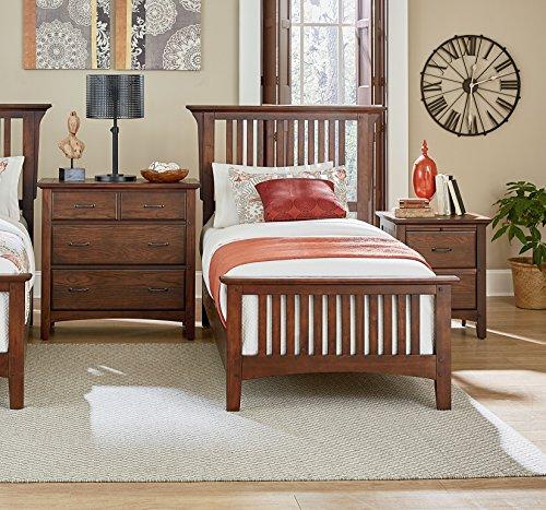 Bassett Bedroom Sets - INSPIRED by Bassett BP-4201-110K Bed Collection, Twin, Vintage Oak