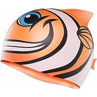 TYR Sport Kid 's charac Happy Fish Swim Cap