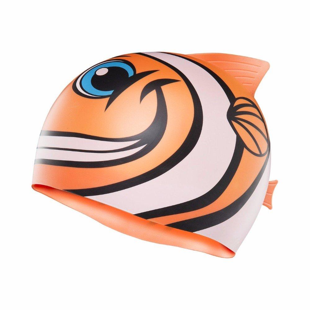 Tyr - Kinder Badekappe glücklicher Fisch Charakter orange One Size LCSHFISH TYRA5|#TYR