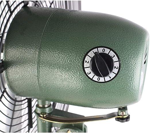 Ventilador de Base/Ventilador de Piso oscilante/Mecánico/Tercera Marcha Ajustable/Hoja de Aluminio/Ventilador de Base Vertical de Cabeza de Sacudida: Amazon.es: Hogar
