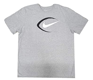 09b59587 Amazon.com: Nike Mens Football Swoosh T-Shirt Heather Grey/Black ...