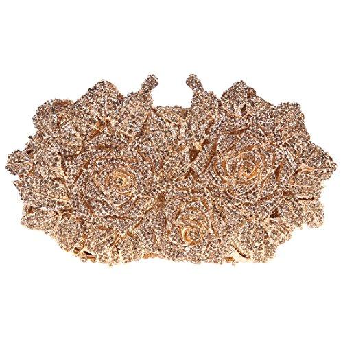 - Fawziya Rose Clutch Purse Oversized Floral Handbags For Women Evening Clutches-Smoky yellow